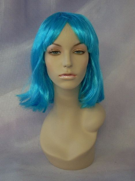 Costume wig Blue Mannequin Head Hair #WG SW075B